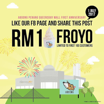 Aboong Malaysia 아붕 Froyo RM1 Promo