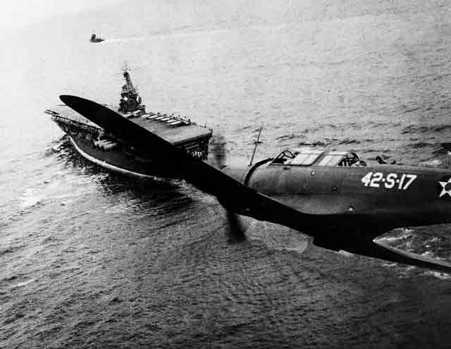 USS Ranger and SB2U Vindicator 4 October 1941 worldwartwo.filminspector.com