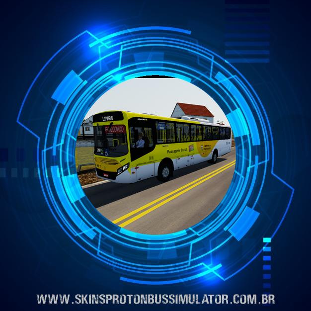 Skin Proton Bus Simulator - Apache VIP IV MB OF-1721 BT5 Consórcio União