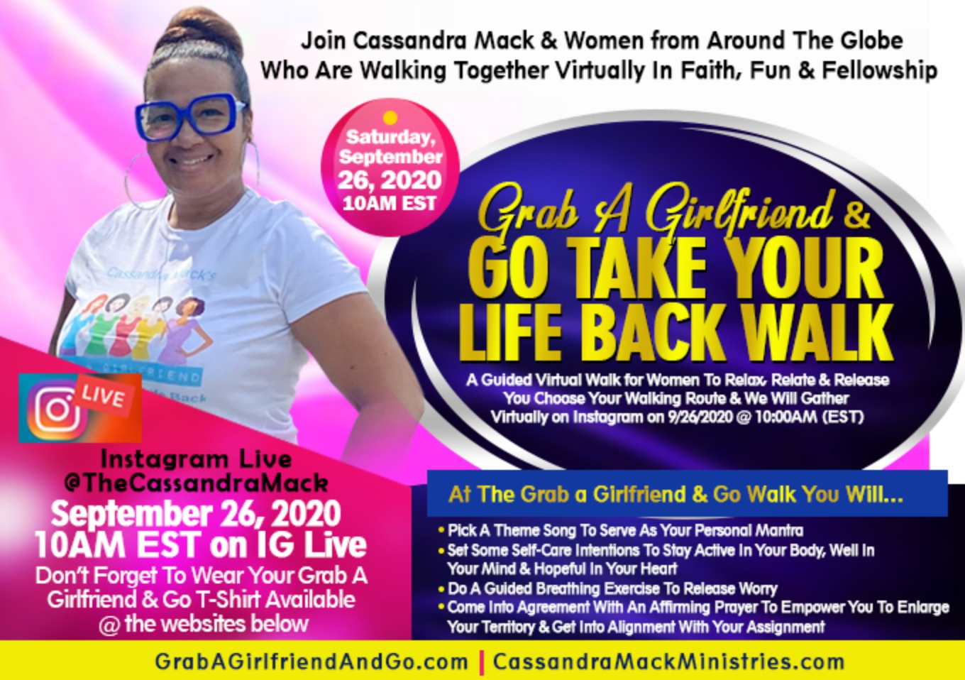 Cassandra Mack's Grab A Girlfriend & Go Walk