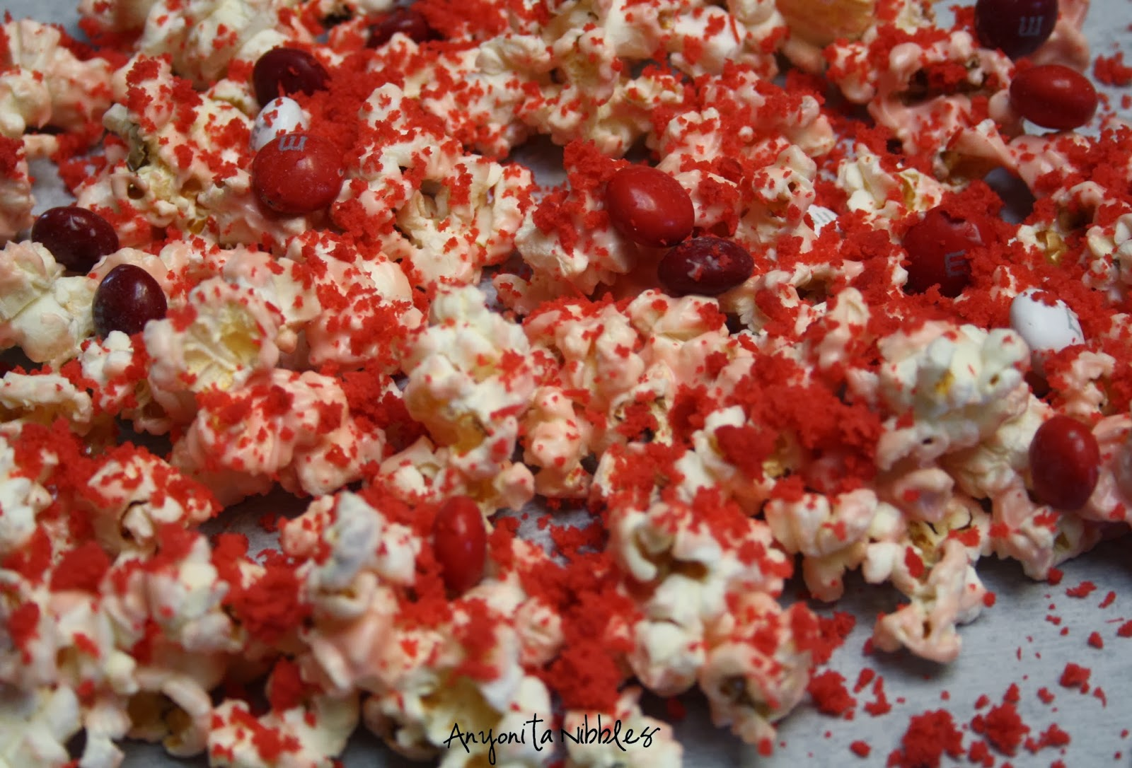 Valentine's Red Velvet Popcorn from www.anyonita-nibbles.co.uk