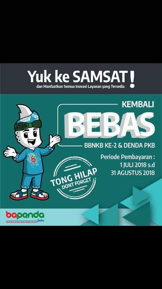 Juli - Agustus 2018 Samsat Cinere Gratiskan BBNKB dan Denda Pajak