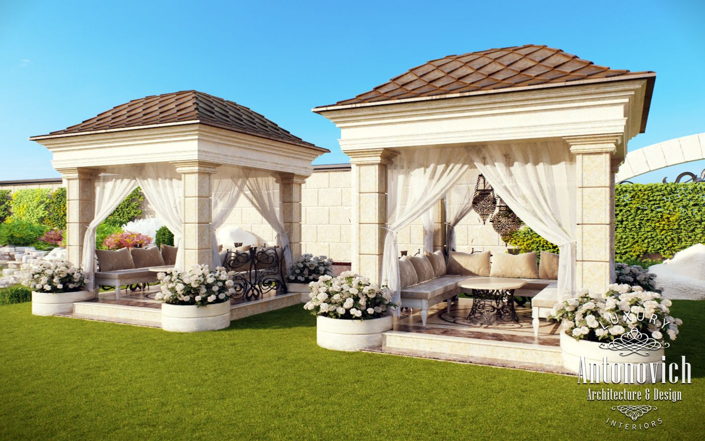 Kitchens dubai from antonovich design - Garden Landscaping Dubai From Luxury Antonovich Design