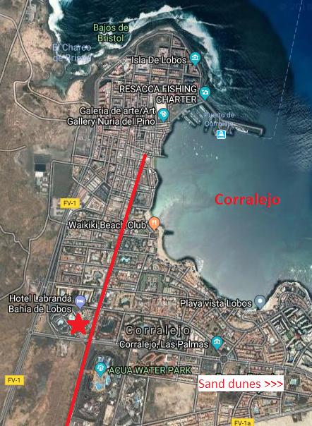 Labranda Bahia de Lobos Corralejo Fuerteventura Map
