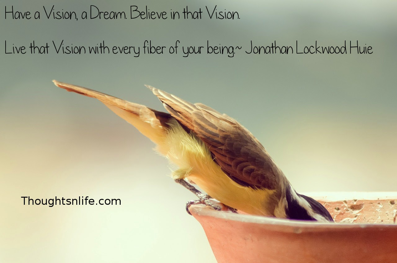 Thoughtsnlife.com: Have a Vision, a Dream. Believe in that Vision. Live that Vision with every fiber of your being. - Jonathan Lockwood Huie