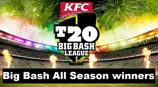 Big Bash League All-Season Winners List, Past BBL Champions table, results review 2011-2019.
