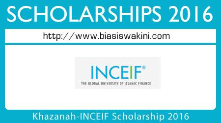 Khazanah-INCEIF Scholarships 2016