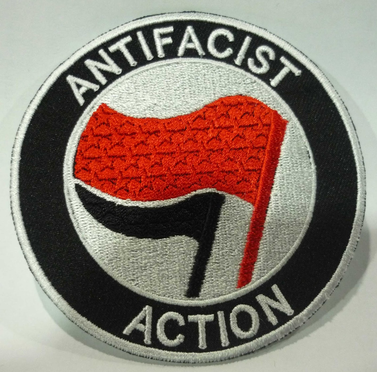 Black Seeds Records Antifacist Action Embroidered Patch