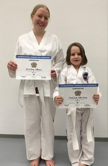 taekwondo keltainen vyö testi