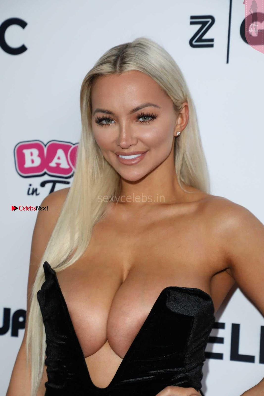 Lindsey Pelas Lovely Boobs Cleavages WOW
