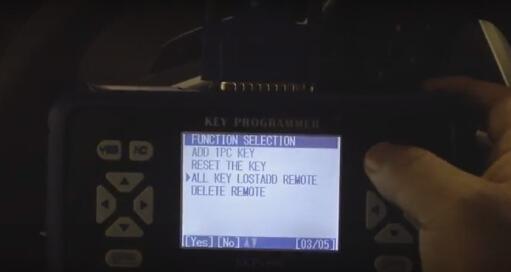 Select All Key Lost Add Remote