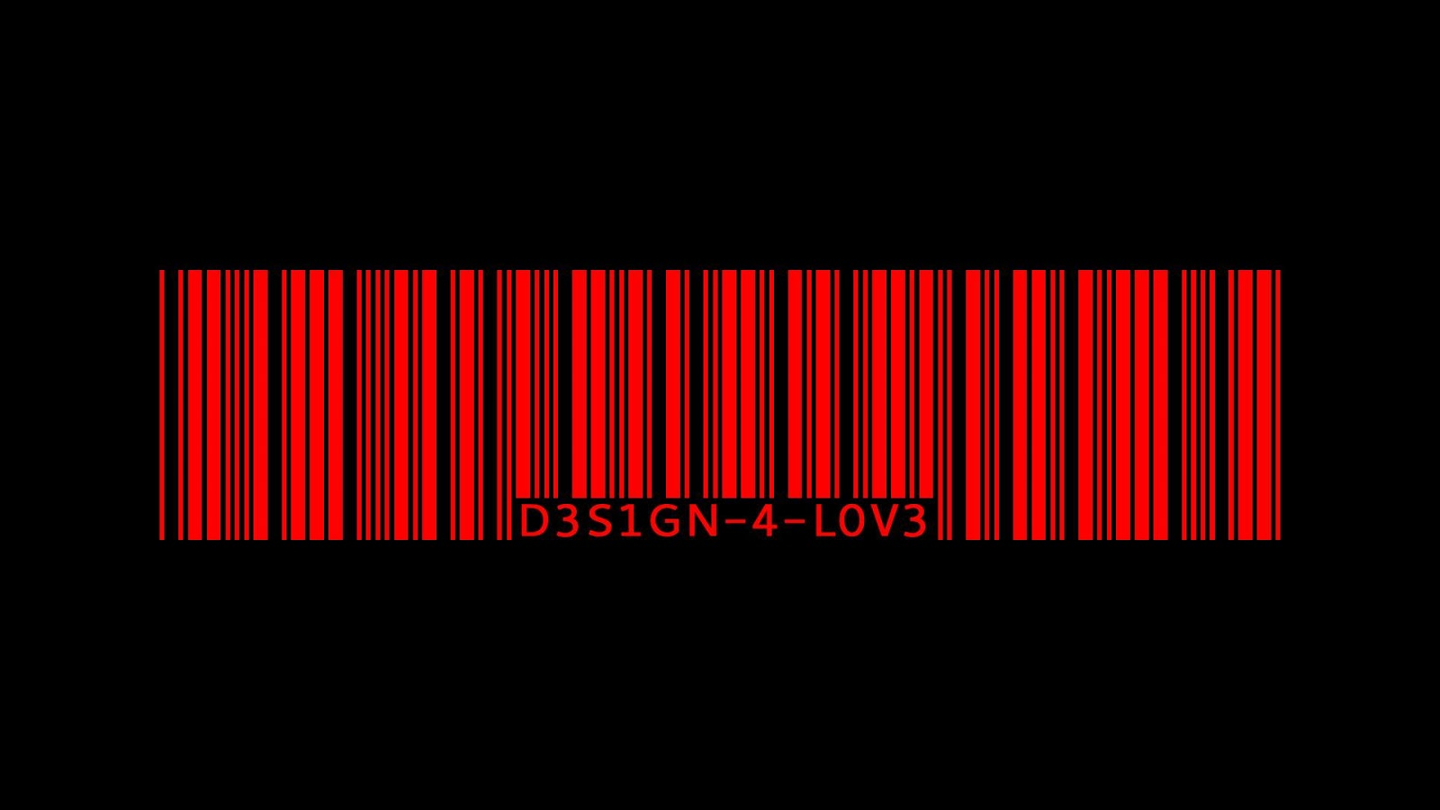 Black And White Wallpapers Red Barcode Black Red Wallpaper