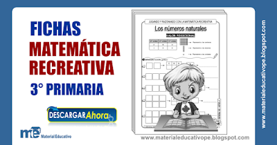 Fichas matemática recreativa 3° grado primaria ~ MATERIAL EDUCATIVO