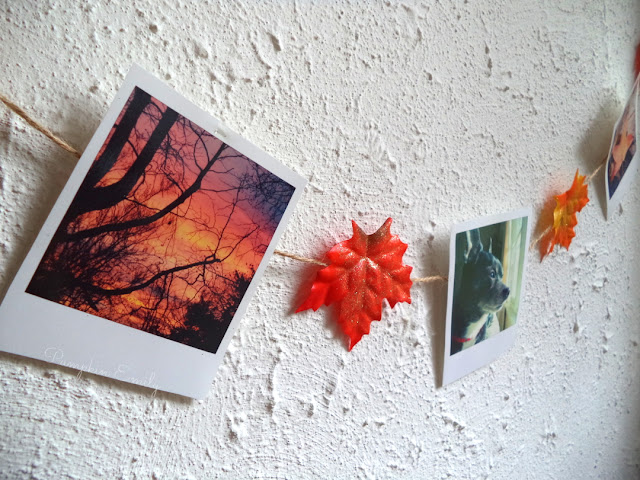 DIY Leaf Garland / DIY Polaroid Garland