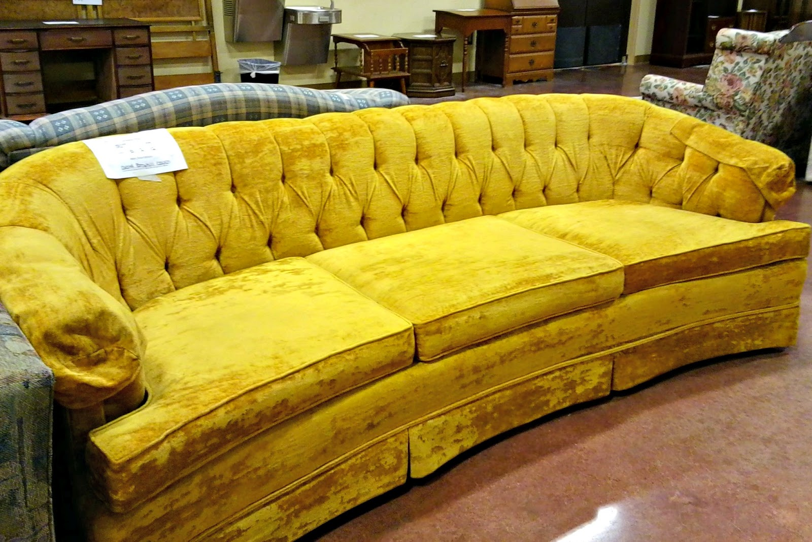 Golden Velvet Sofa Oufit Of The Day S