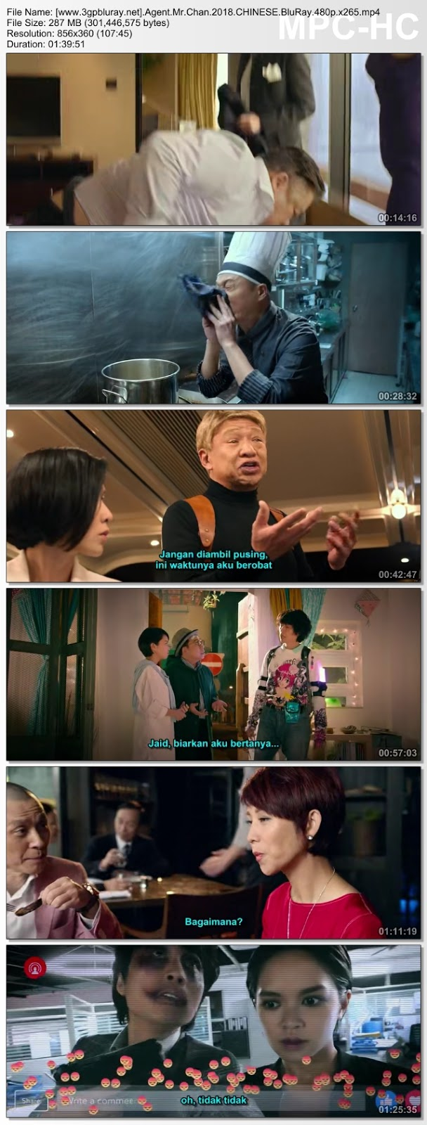 Screenshots Download Agent Mr. Chan (2018) BluRay 480p & 3GP Subtitle Indonesia