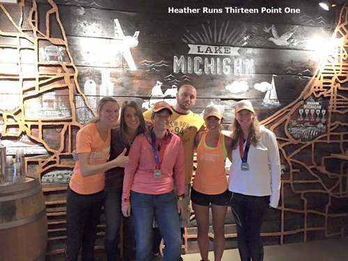 c6124d7cf0 I'm on the right wearing my 2XU Elite MCS Compression Tights at Goose  Island Taproom post-Chicago Marathon.