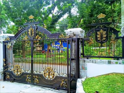 pintu gerbang besi tempa klasik