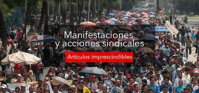 Diez artículos publicitarios indispensables para acciones sindicales y manifestaciones