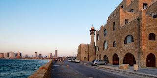 Jaffa mosque next to the sea