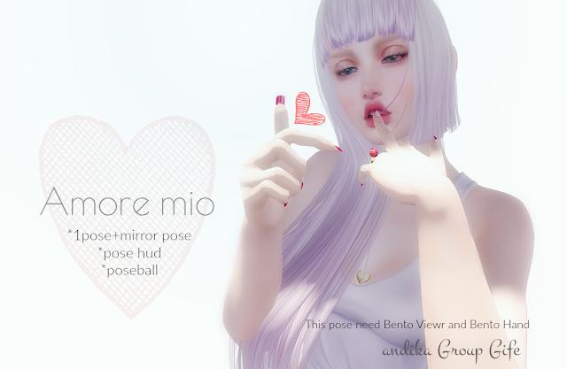 andika GG[Amore mio]bento pose