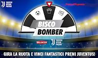 Logo ''Biscobomber'' Balocco: vinci grati premi firmati Juventus e fornitura di biscotti