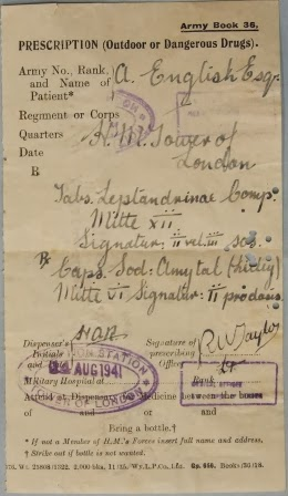 Obverse of the prescription issued to Josef Jakobs on 14 August 1941.