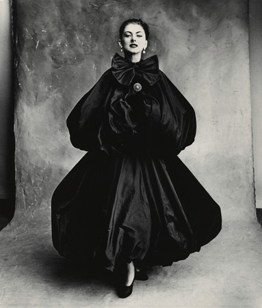 Balenciaga Harem Dress (Diane), Paris, 1950,  by  Irving Penn