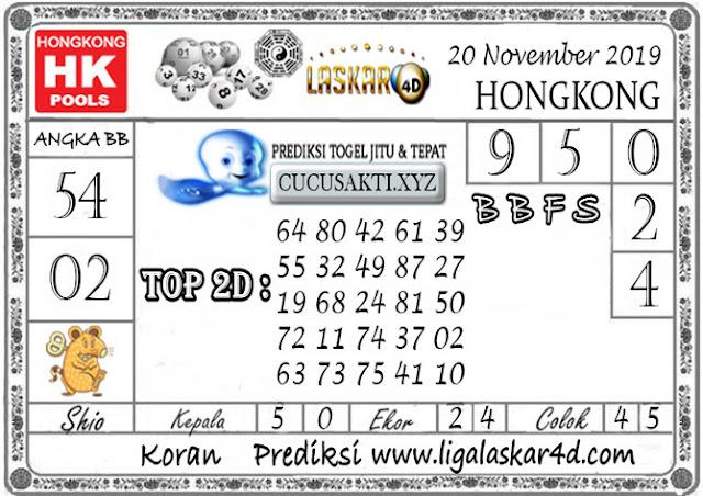Prediksi Togel HONGKONG LASKAR4D 20 NOVEMBER 2019