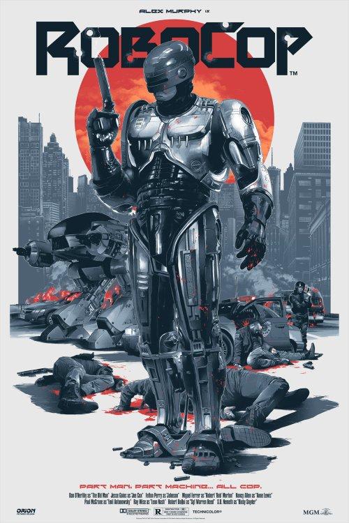 Grzegorz Domaradzki ilustrações cartazes pôsteres filmes arte cinema RoboCop (RoboCop - O Policial do Futuro)