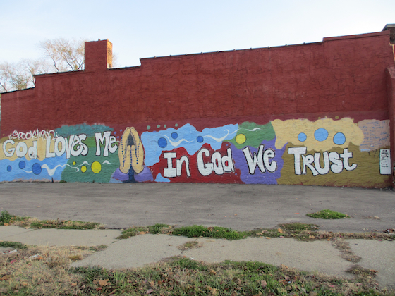 Mural In God We Trust Detroit