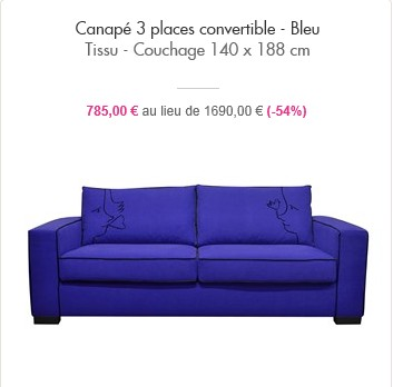 ventes privees sur internet canap s jc de castelbajac showroompriv. Black Bedroom Furniture Sets. Home Design Ideas