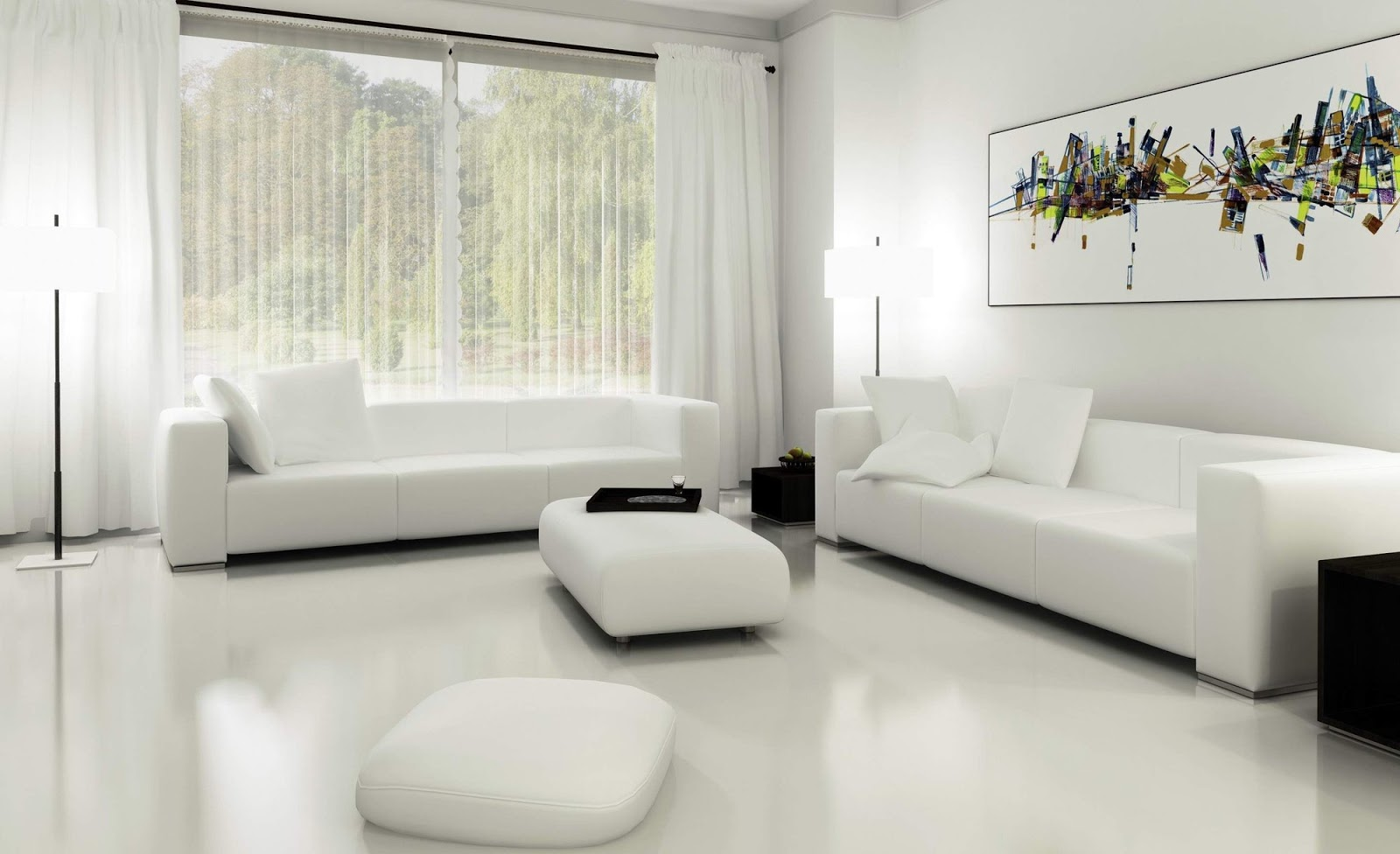 The White Living Room Curtains Ideas! RR Interiors