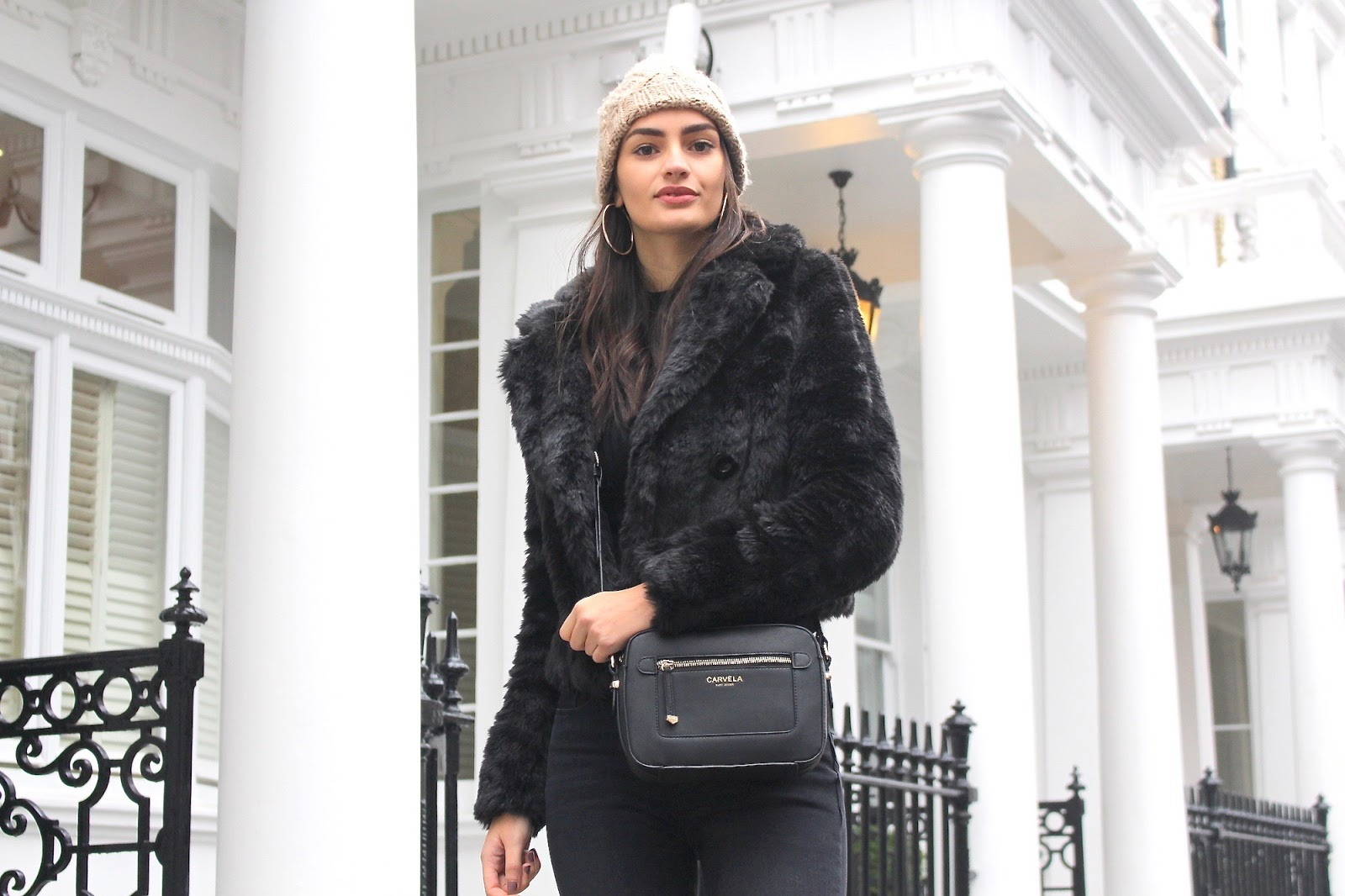 styling faux fur winter