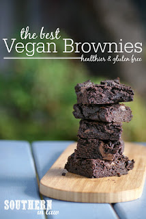 The Best Vegan Brownies Recipe - low fat, low sugar, healthy, gluten free, clean eating recipe, refined sugar free, nut free, egg free, dairy free