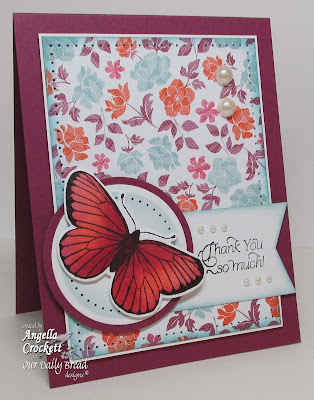 "ODBD ""Butterfly Corner"", ""Thank You Sentiments"" Card Designer Angie Crockett"