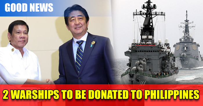GOOD NEWS: 2 Big Warships From Japan to be Donated to Philippines