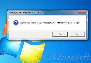 Microsoft .NET Framework V1.1 Download- Screen 1