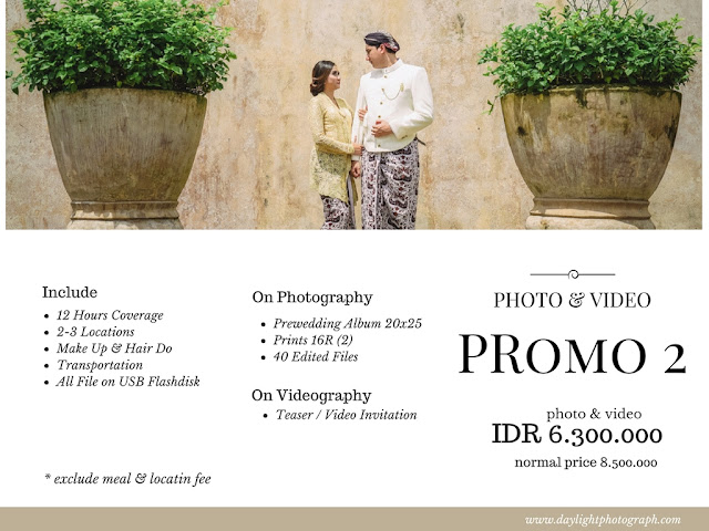 Promo Pre Wedding Photo & Video Yogyakarta 2018