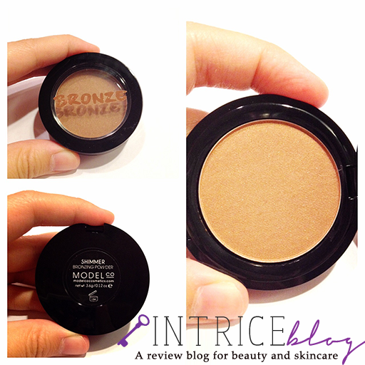 model co bronzer in shimmer -- intrice.blogspot.com