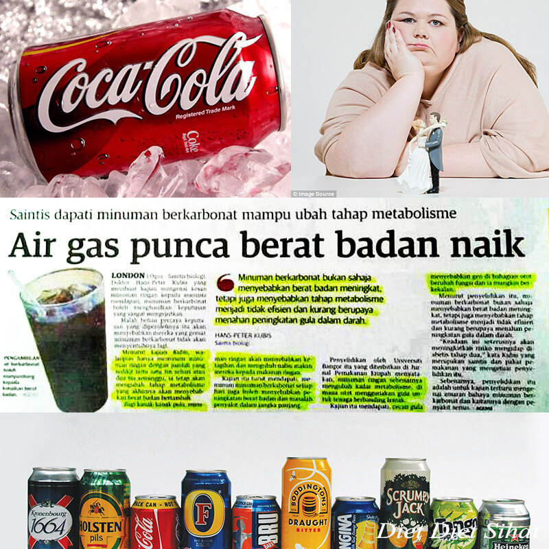 minum banyak air gas berat badan naik mendadak gemuk