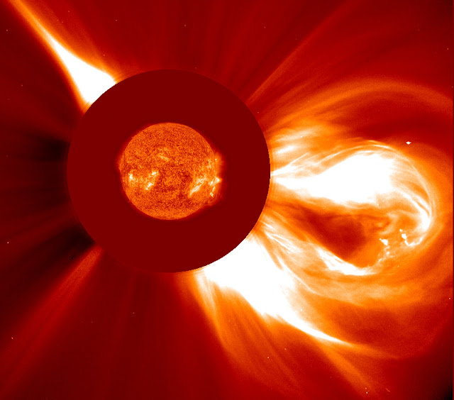 Coronal Mass Ejection seen by NASA's SOHO