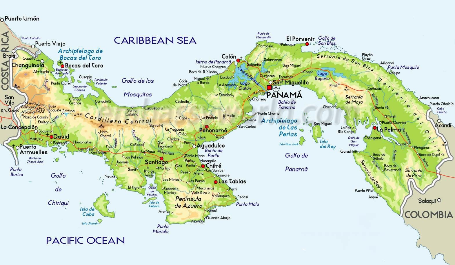 Panamá | Mapas Geográficos do Canadá