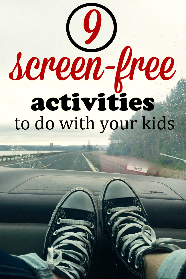 Looking for alternatives to video games or computer time? Try these fun screen-free activities! #overstuffedlife