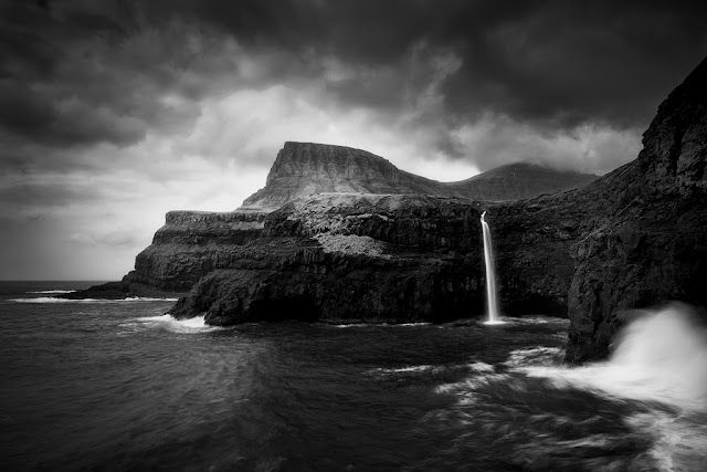 Mulafossur waterfall at Gasadalur, Faroe Islands