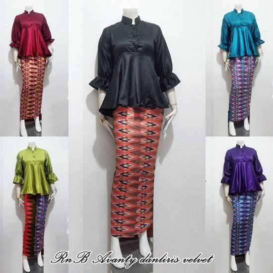 Contoh Potongan Baju Batik Modern: Model Baju Setelan Batik Rok Panjang