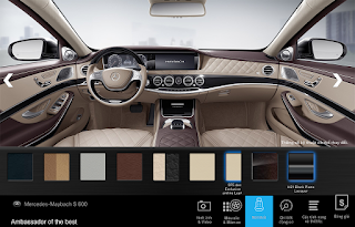 Nội thất Mercedes Maybach S600 2017 màu Vàng Silk (975)