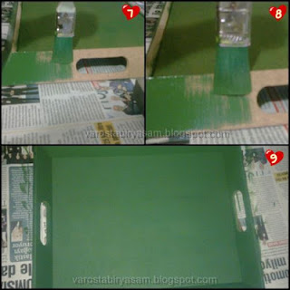 fotoğraflı dekupaj tepsi yapımı
