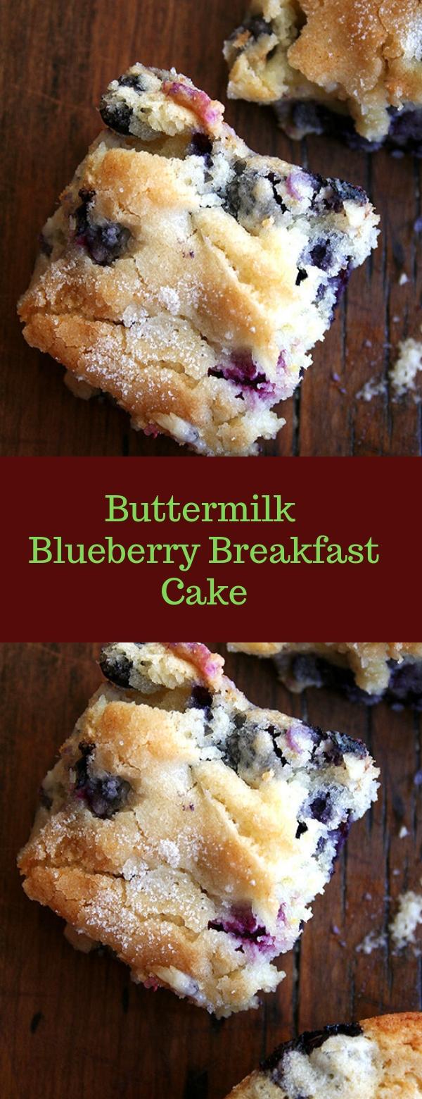 Buttermilk Blueberry Breakfast Cake #BLUEBERRY #BUTTERMILK #BREAKFAST