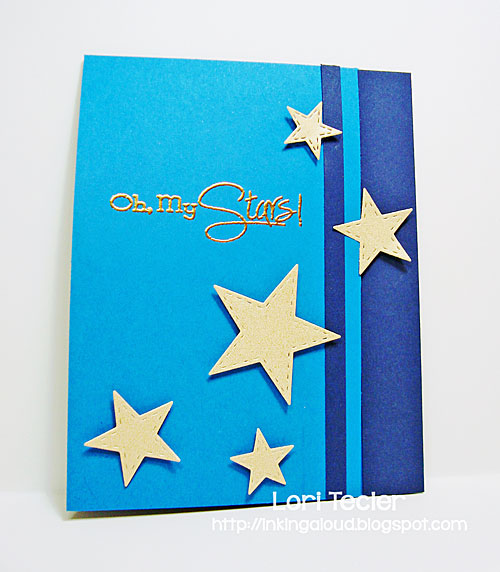 Oh My Stars card-designed by Lori Tecler/Inking Aloud-stamps and dies from Lil' Inker Designs